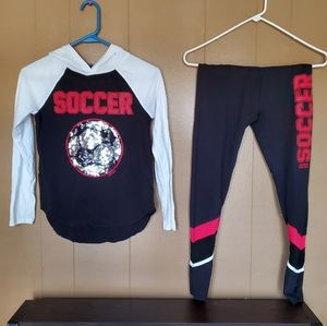 Soccer Justice - Girls Size 10 top 14/16 bottoms